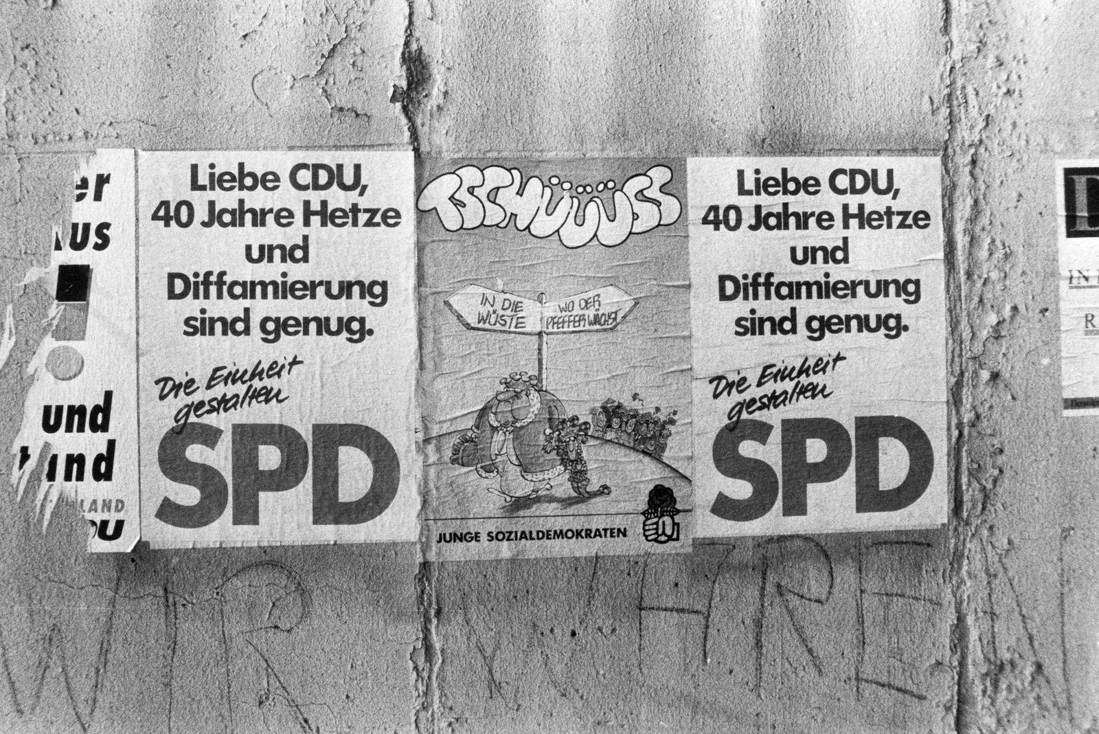 Volkskammerwahl 1990 - Wahlplakate der SPD in Berlin