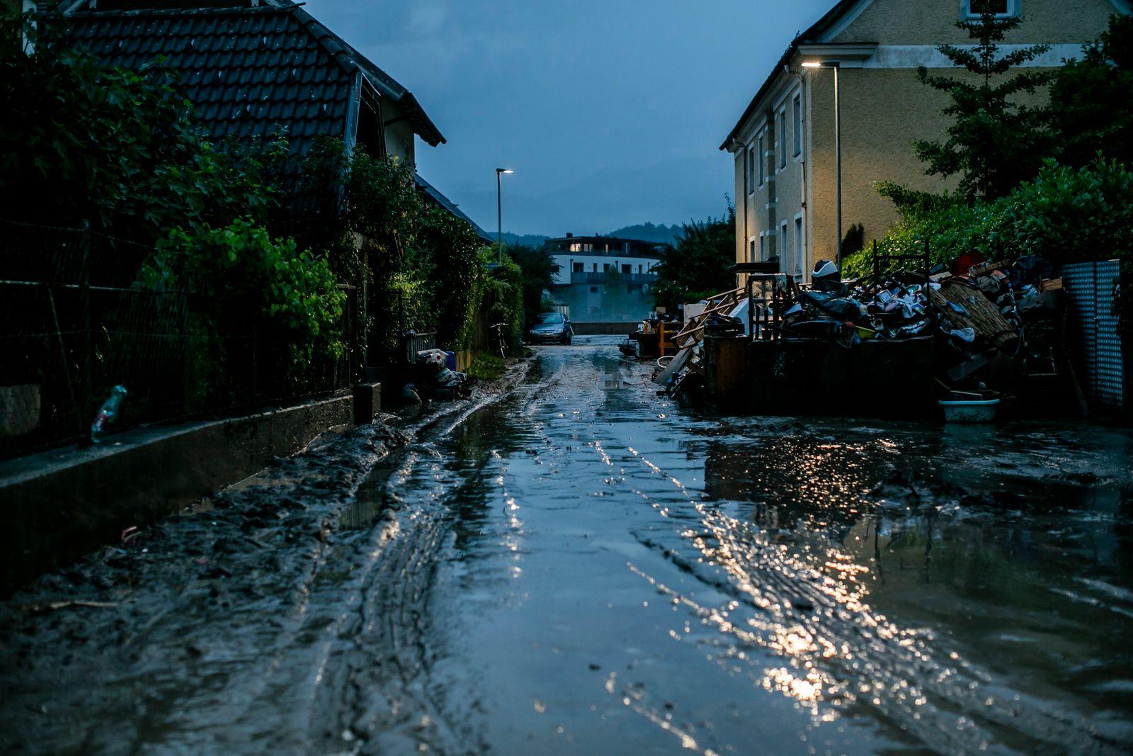 Flooding In Austrian-German Border Region Near Salzburg
