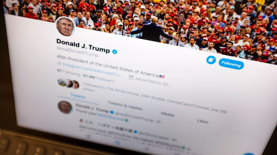 """Account von US-Präsident Donald Trump: Einer der twitternden """"politischen Führer der Welt"""", um die es geht"""