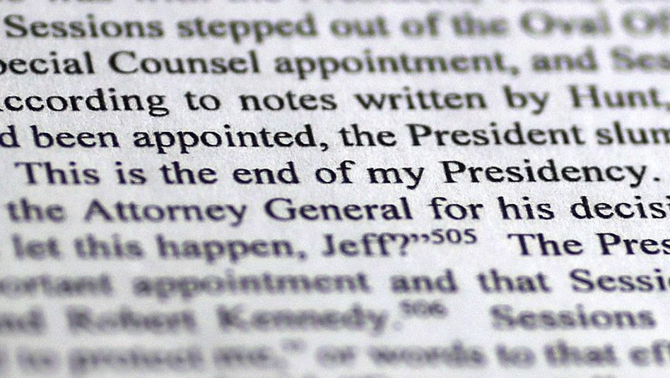 """Trump-Zitat im Mueller-Bericht: """"Das ist das Ende meiner Präsidentschaft"""""""