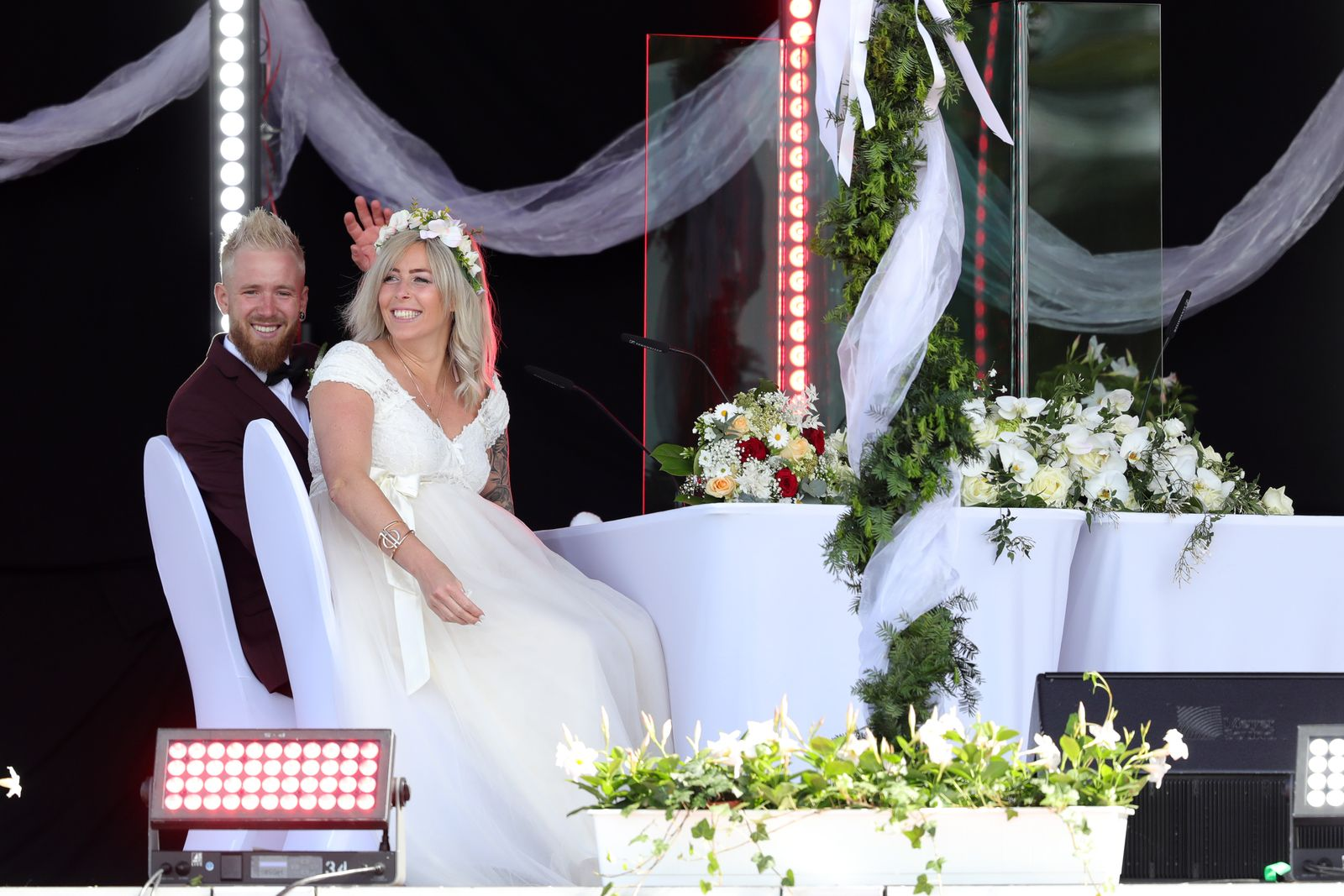 Couples Marry At Drive-In Cinema During The Coronavirus Crisis