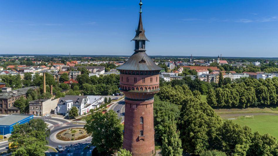 Wasserturm in Forst in der brandenburgischen Lausitz