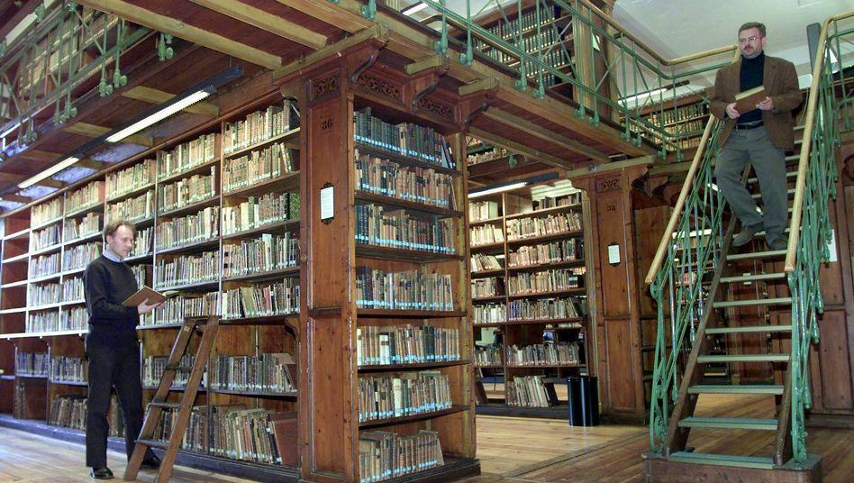 """Forschungsbibliothek in Göttingen (Januar 2001): """"Wir haben keine Betriebsgeheimnisse"""""""