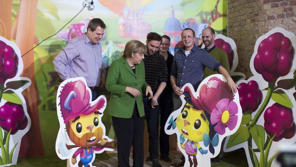 Start-up-Offensive: Merkel erforscht das Zauberpulver
