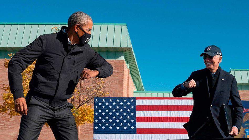 Obama und Biden während des Endspurts des Wahlkampfs (31. Oktober)