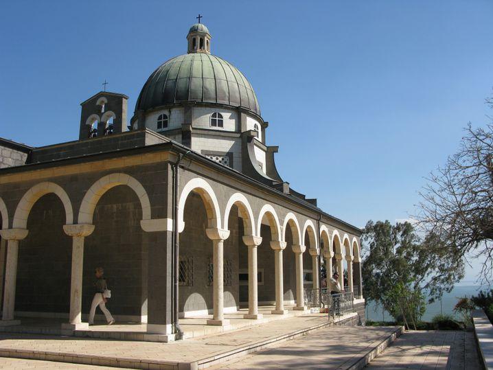 In Kapernaum wirkte Jesus mit seinen Jüngern. Über dem angeblichen Haus des Petrus wurde eine Kirche errichtet.