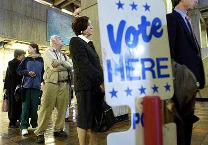 Wahllokal in Boston, Massachusetts: Schwerwiegender Verdacht