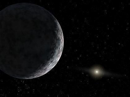 """Planetenkandidat Xena (Zeichnung): 20 Prozent größer als der """"Pluto"""""""
