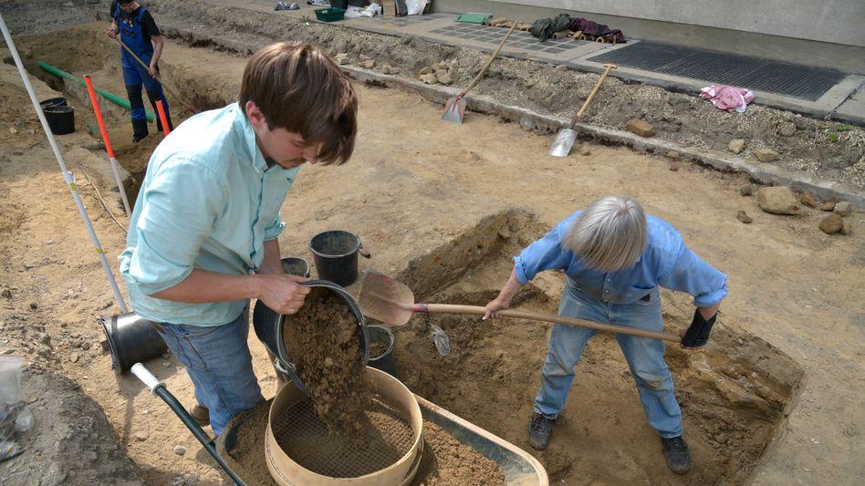 Ausgrabungen in Berlin auf dem Gelände der Freien Universität (FU)