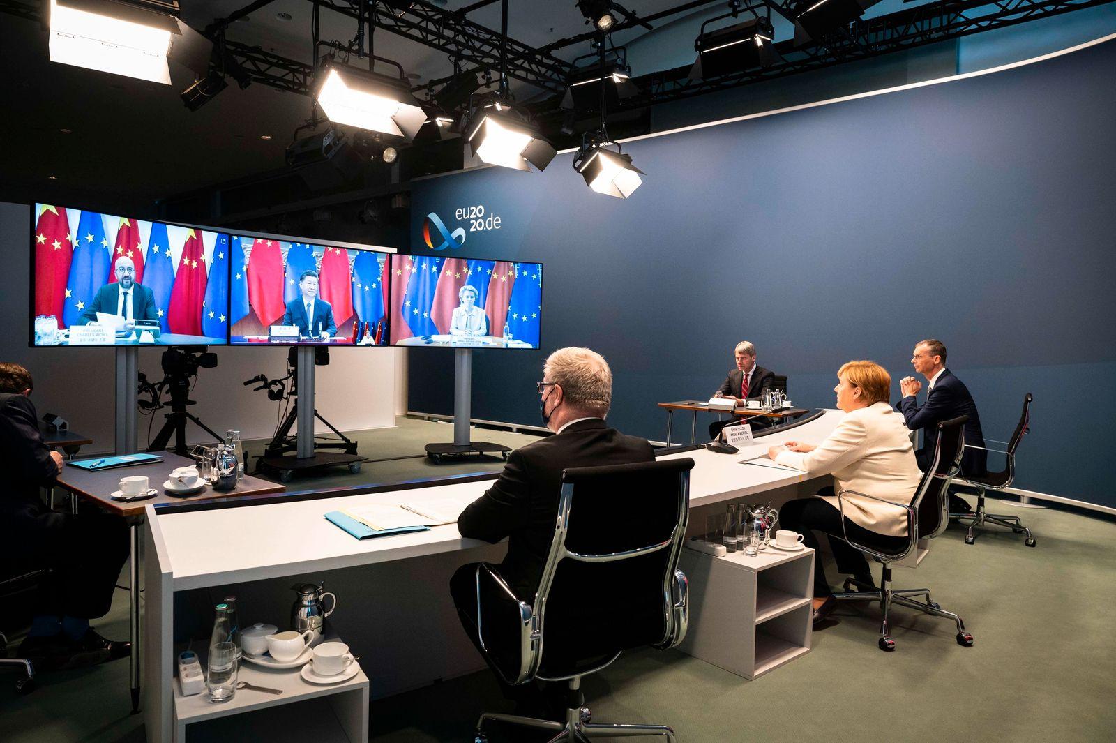 Video-Gipfel des Europäischen Rates
