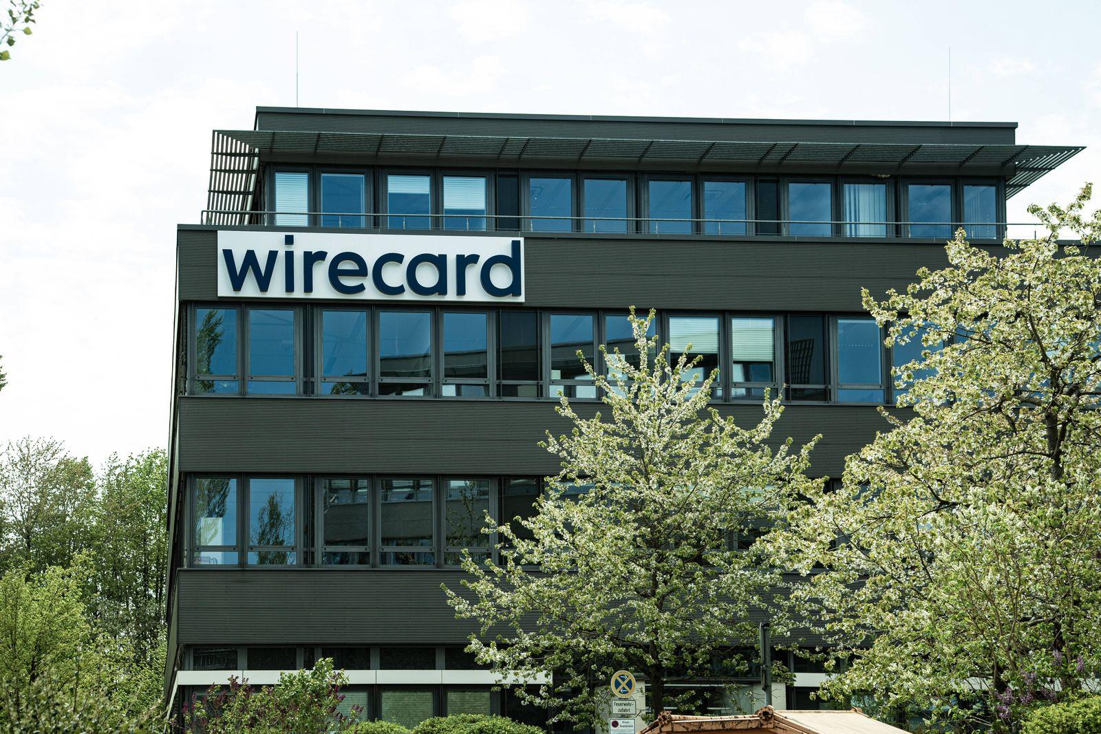 , Blick auf die Zentrale des insolventen Dax Unternehmens Wirecard. Nachdem die Wirtschaftsprüfer Ernst & Young ( EY )