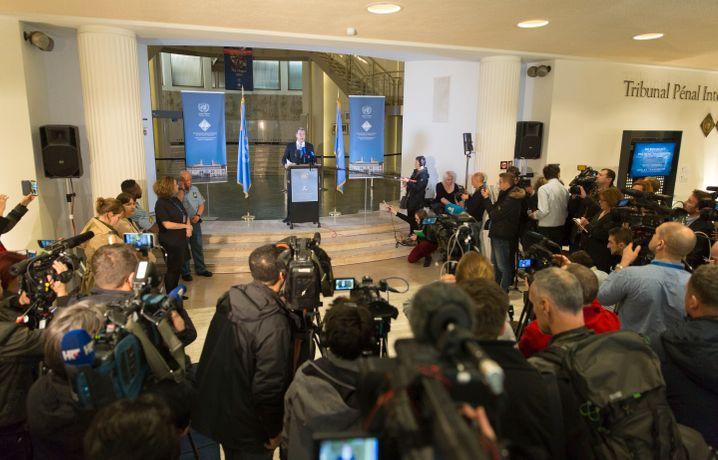 Chefankläger Serge Brammertz in Den Haag (nach der Verurteilung von Ratko Mladić 2017)