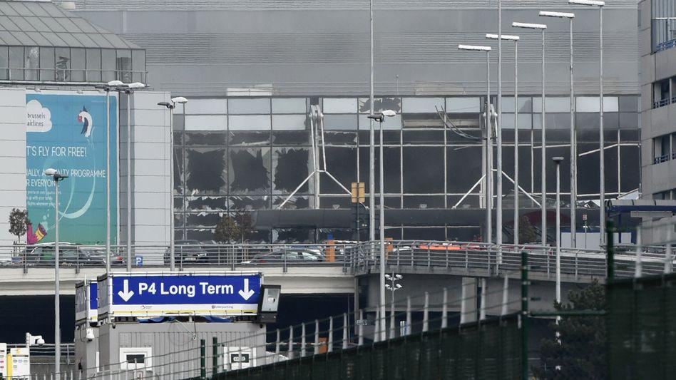 Zerstörung am Brüsseler Flughafen