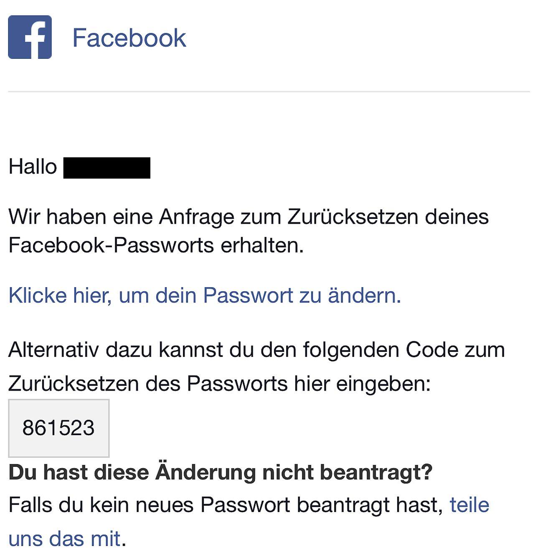 Accountsicherheit/ Apple/ Facebook