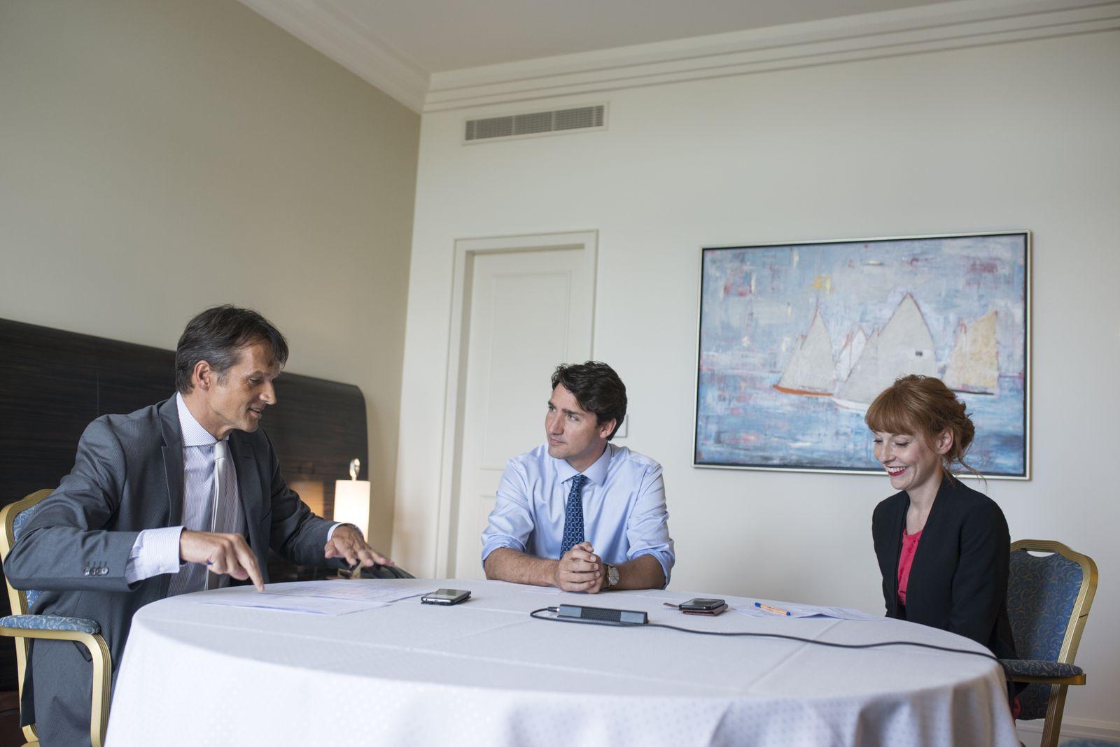 Premierminister Justin Trudeau im Interview