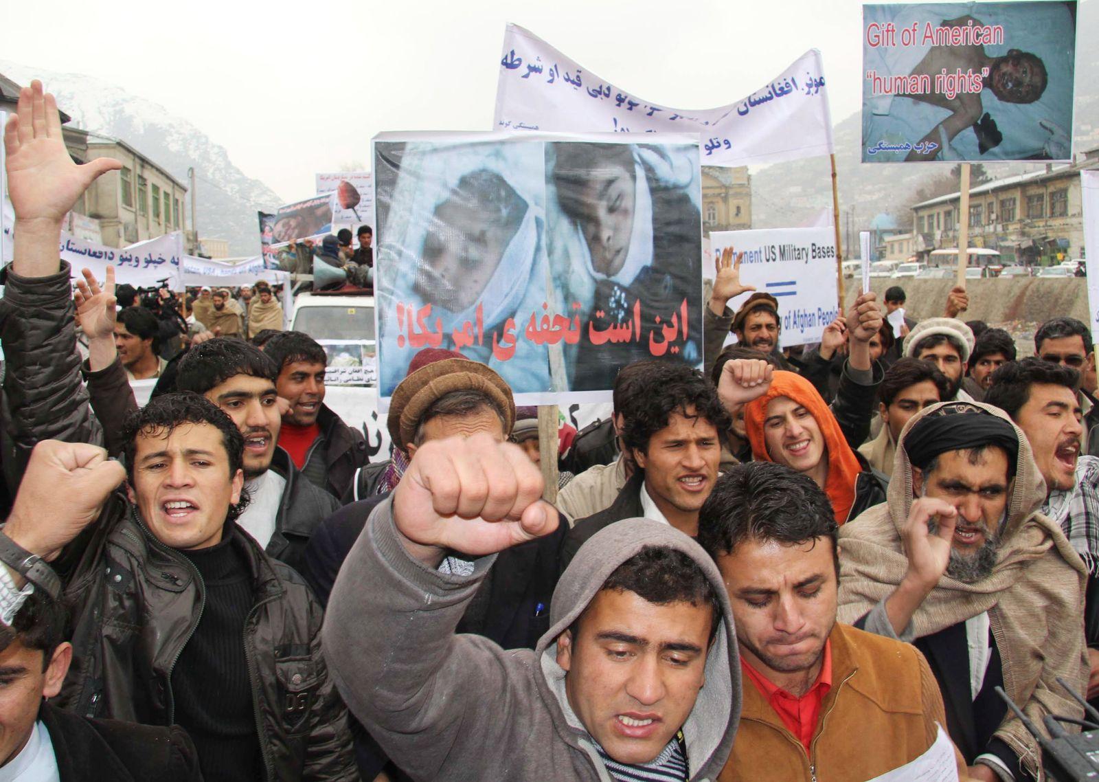Afghanistan Proteste Kinder