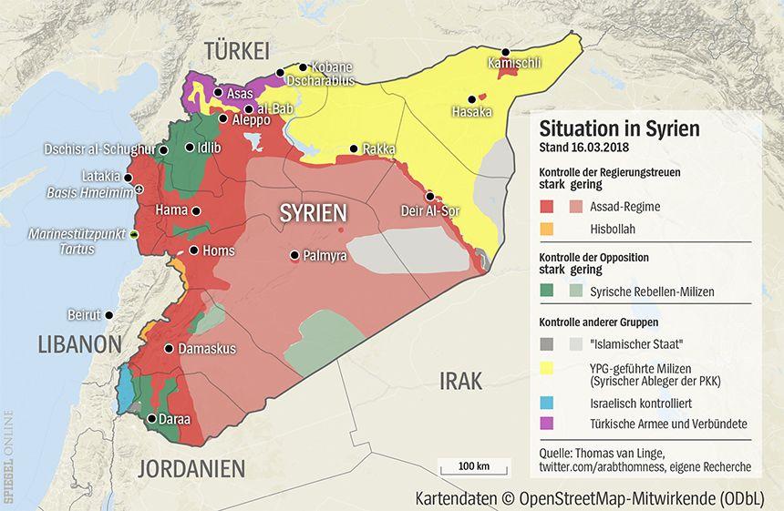 GRAFIK Karte Syrien 16-03-2018