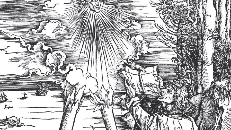 Ausschnitt aus Albrecht Dürers Apokalypse-Zyklus