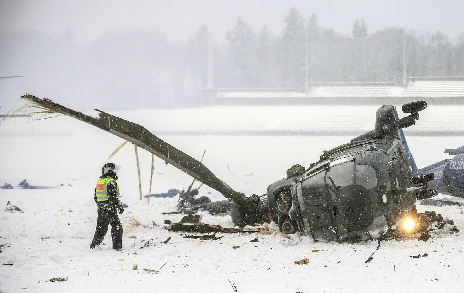 Hubschrauberunfall / Berlin
