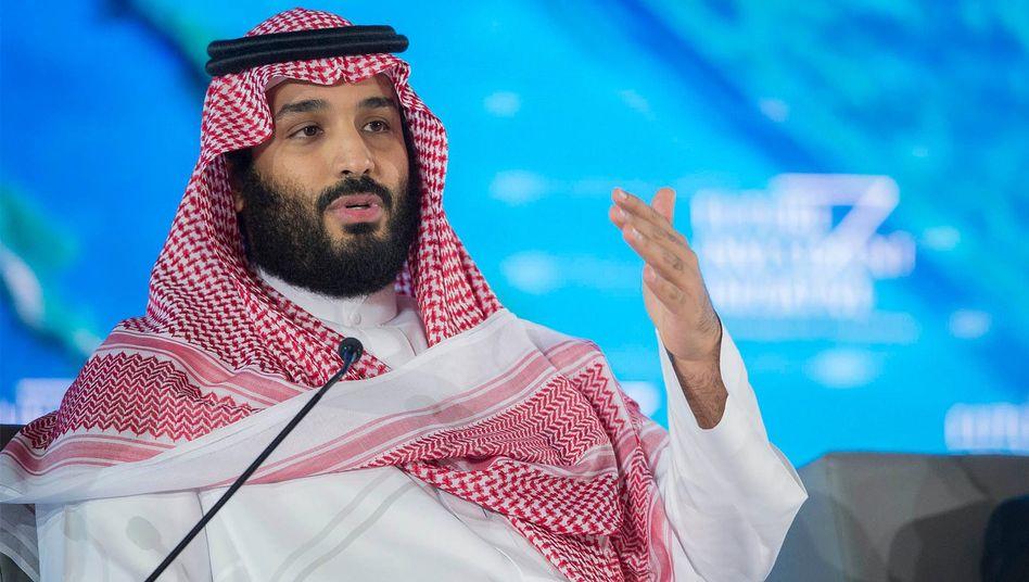 Der saudi-arabische Kronprinz Mohammed bin Salman am 24. Oktober in Riad