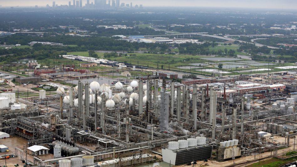 Die Petrochemie-Fabrik von TPC in der Nähe von Houston