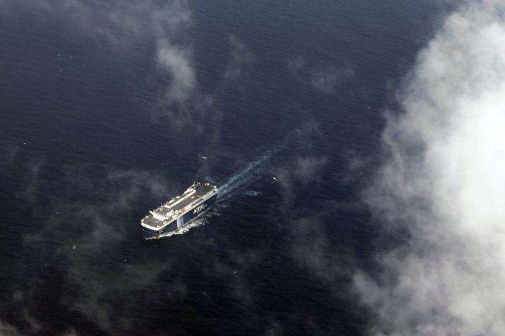 Golf von Thailand: Blick auf ein Schiff aus einem Flieger der Suchtrupps