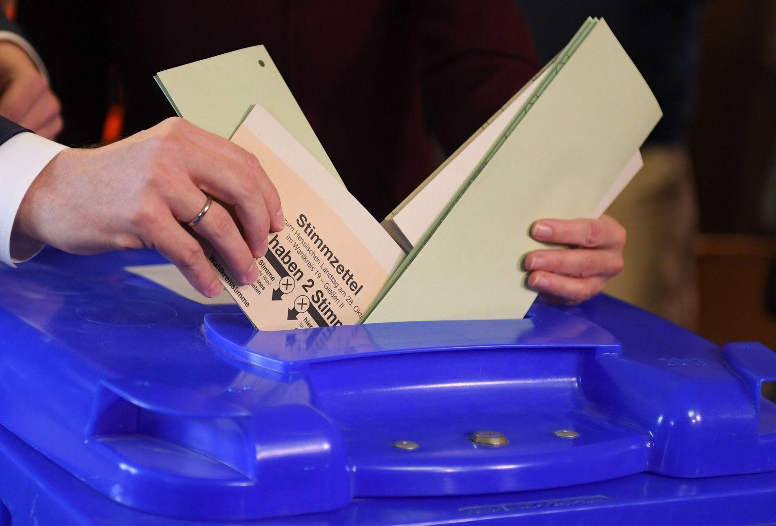 Landtagswahl Hessen - Stimmabgabe Schäfer-Gümbel