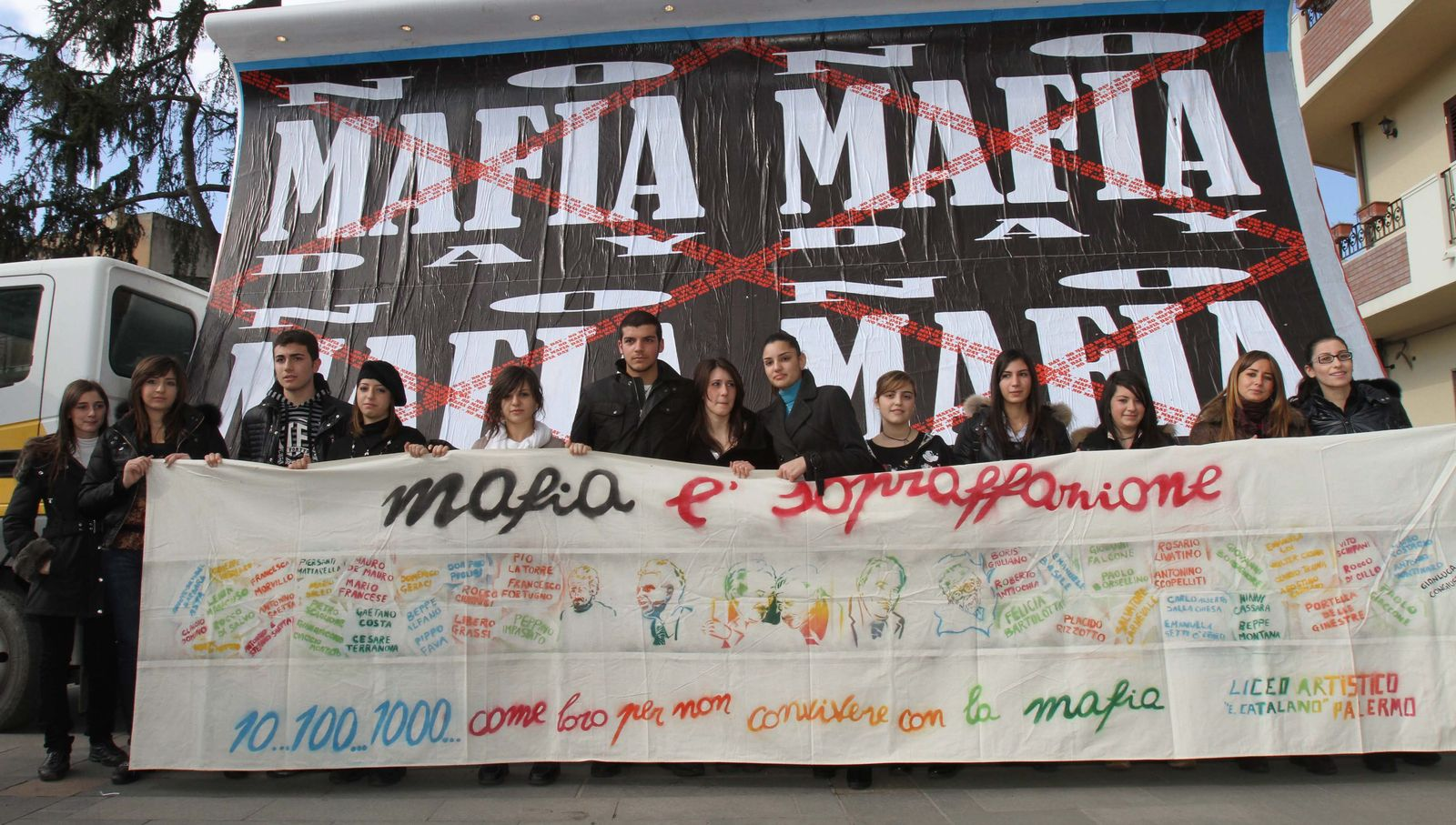 Anti-Mafia-Protest in Kalabrien