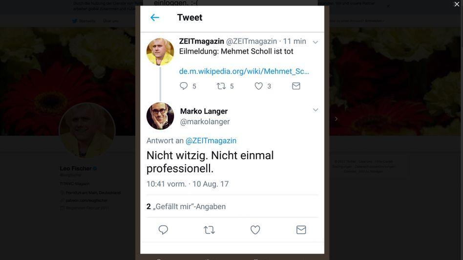 """Leo Fischer/ Twitter/ """"Zeit-Magazin"""""""