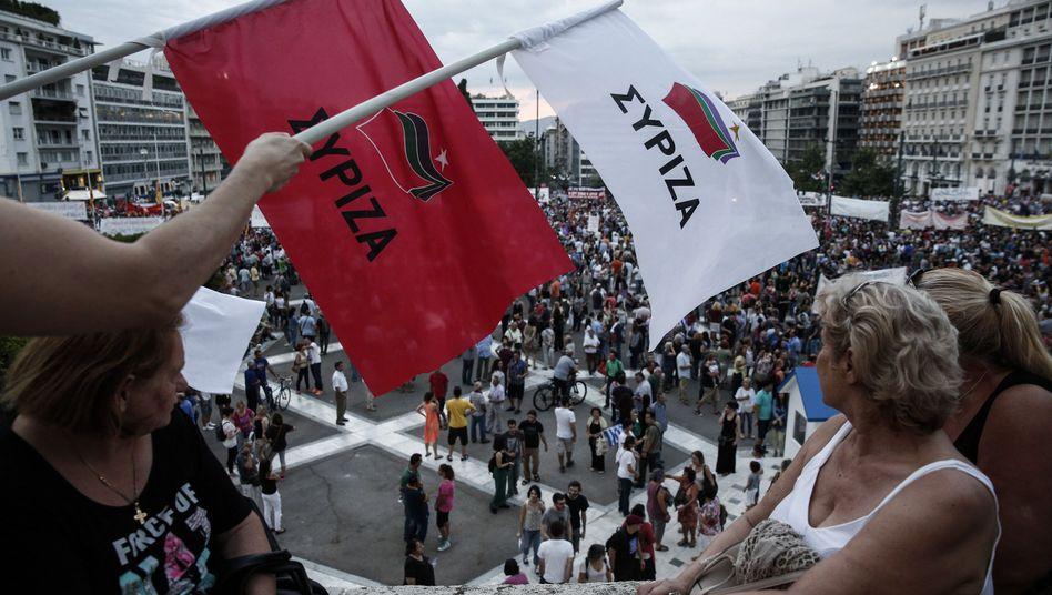 Griechenlands Euro-Referendum: Syriza zwischen Hoffen und Bangen