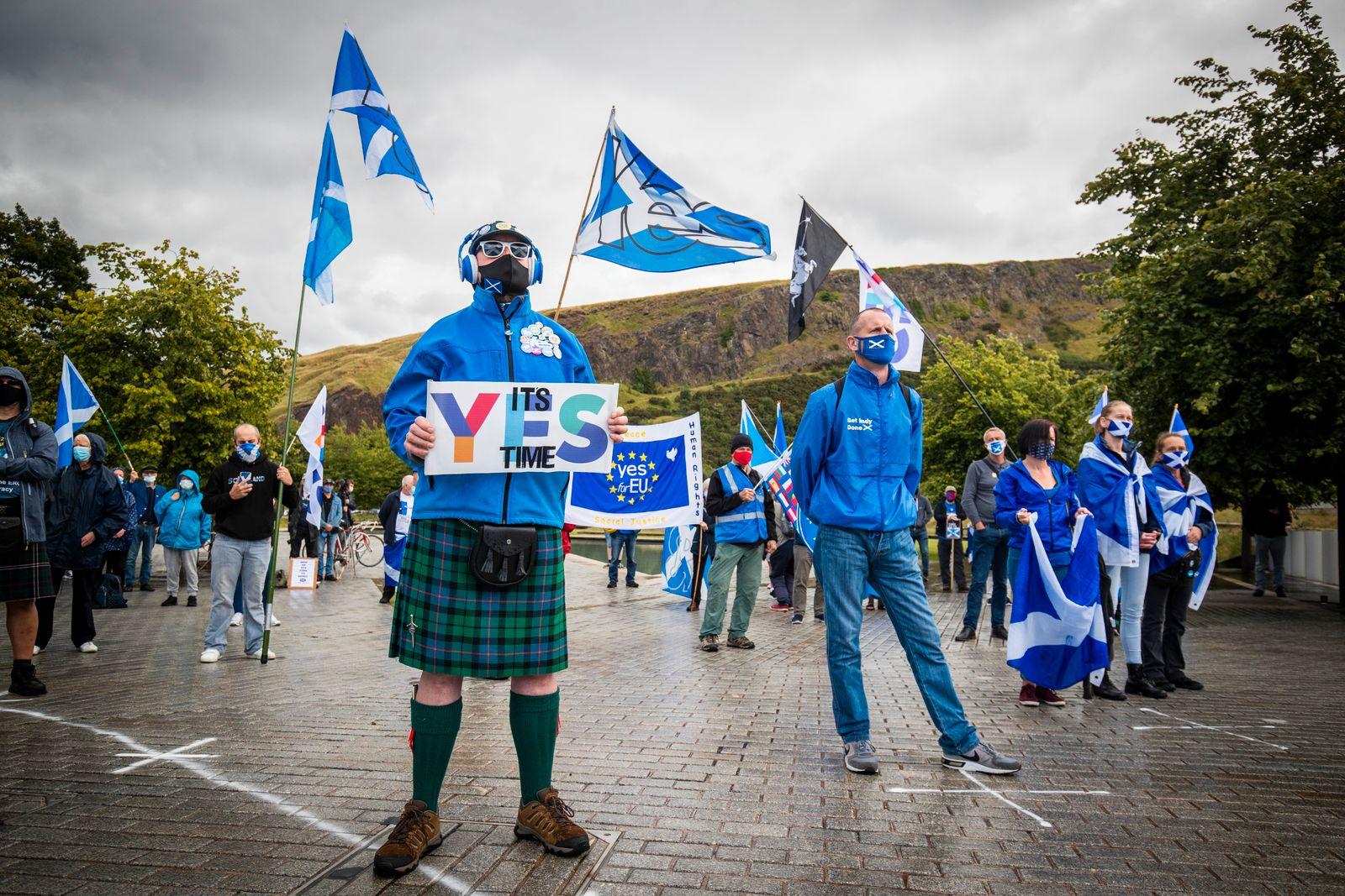 Scottish independence demonstration