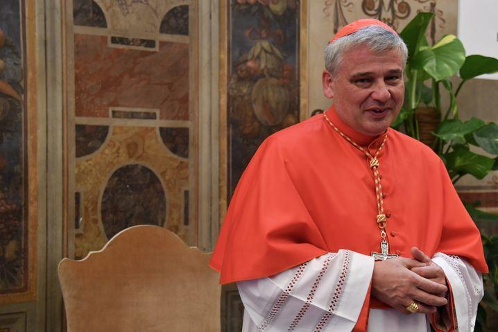 Konrad Krajewski, einer der jüngsten Kardinäle der Kurie, kurz nach seiner Ernennung im Juni 2018