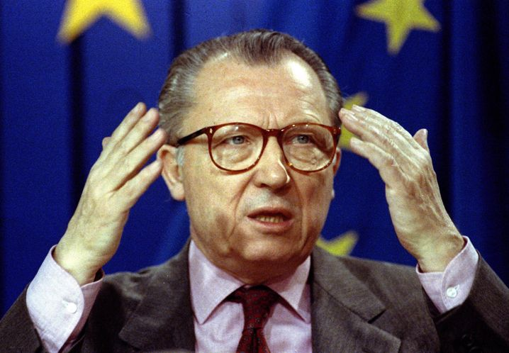Former European Community President Jacques Delors in 1993.