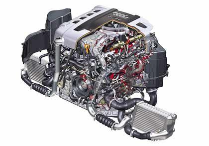 4,2-Liter-V8-TDI-Motor: 255 Kilo Hightech-Muskulatur