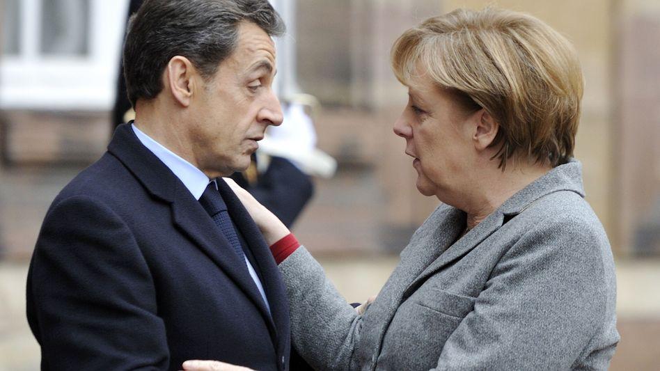 Euro-Gipfel in Straßburg: Merkel pfeift Sarkozy zurück