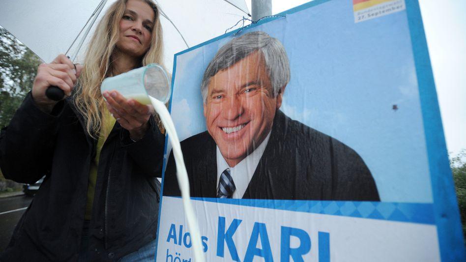 Bäuerin Lehmeier, CSU-Politiker Karl: Auf die Milchattacke folgte eine Ohrfeige