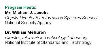 """Ein IT-Konferenzprogramm, das hier zu Lande unmöglich wäre: """"Und Ihr Gastgeber ist""""... - ein Direktor des Geheimdienstes"""