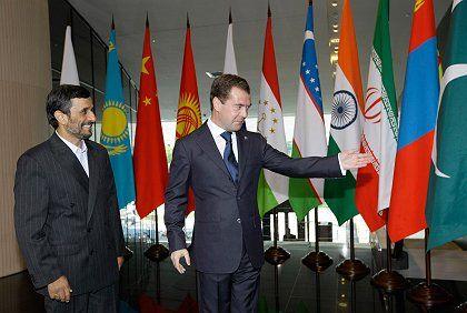 Iranian President Mahmoud Ahmadinejad was in Russia on Tuesday.