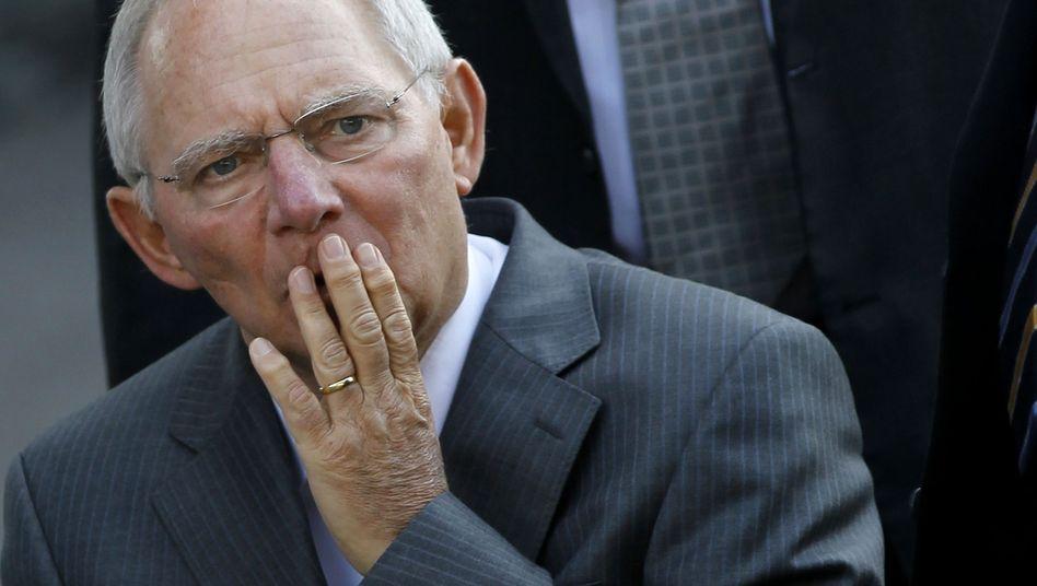 "Wolfgang Schäuble in Luxemburg: Schuldenschnitt ""intensiv diskutiert"""