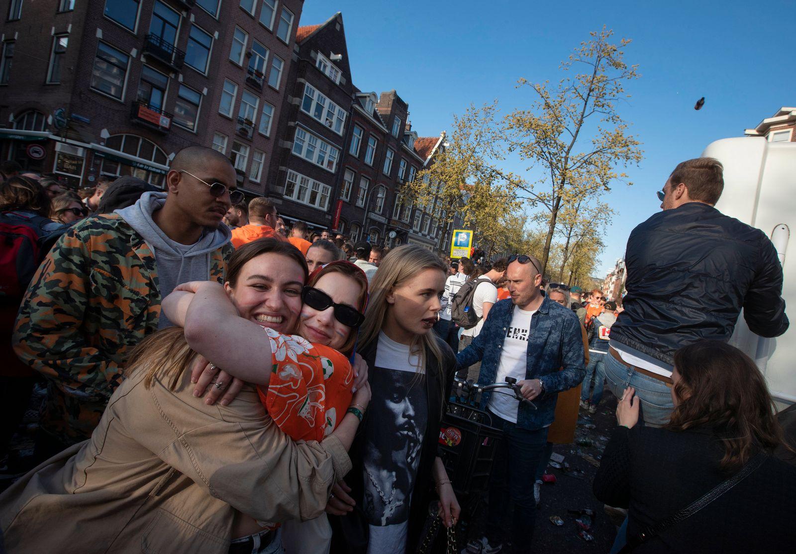 Virus Outbreak Netherlands King's Day