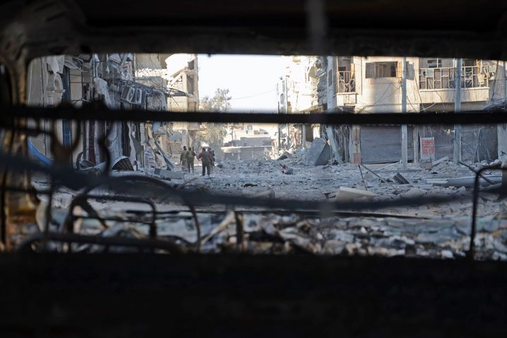 Syrische Rebellen in al-Bab, einer Stadt in Aleppo, Februar 2017