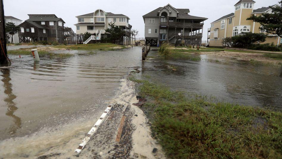 Überschwemmte Dünen in Avon (13.9.2018, North Carolina)