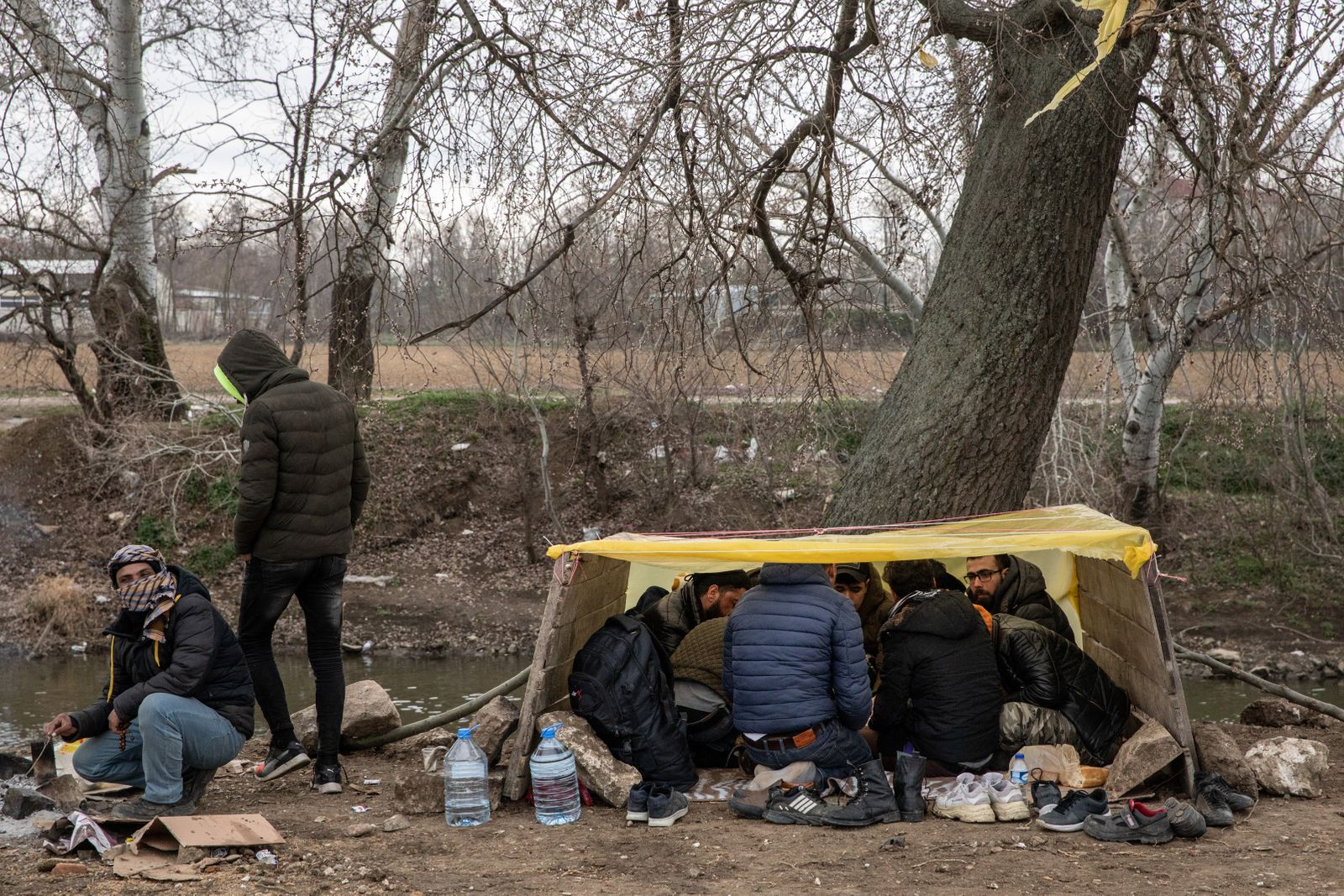 Migrants Continue To Wait At The Turkish Greek Border