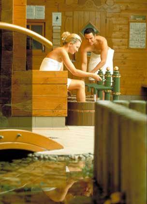 Sauna in der Therme Loipersdorf: Statt Öl und Gas nur heißes Wasser