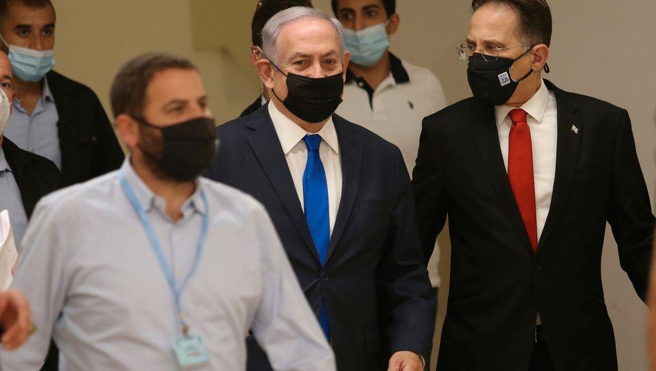Israels Ministerpräsident Benjamin Netanyahu vor einer Parlamentssitzung am 15. Oktober 2020