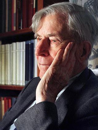 Galbraith in seinem Haus in Cambridge (1998): Einer der letzten großen Keynesianer