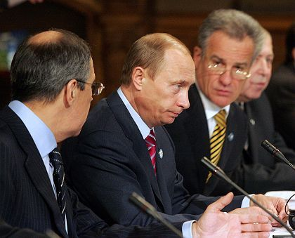 Russian President Vladimir Putin is in Helsinki for a summit with the European Union.