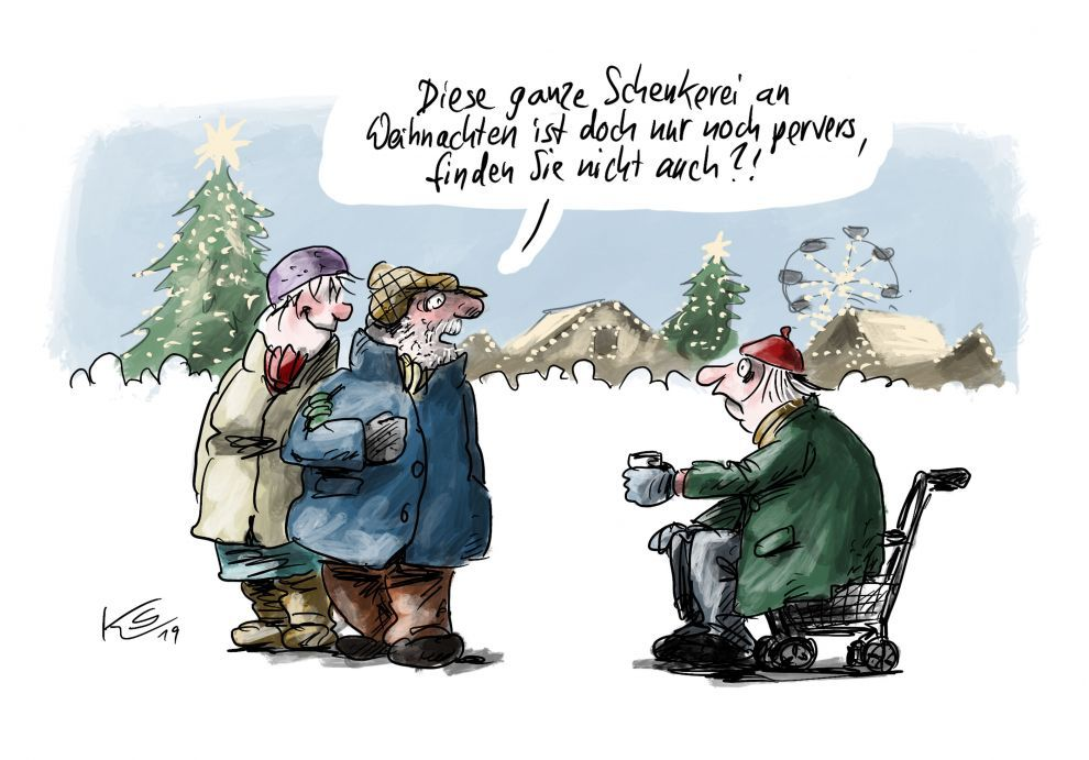 EINMALIGE VERWENDUNG Cartoon 25.12.2019 / Stuttmann