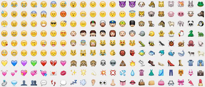 Verschiedene Emojis