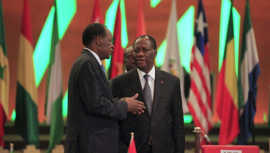 """Präsident der Elfenbeinküste Outtara (r.): """"Mali braucht einen demokratischen Neuanfang"""""""